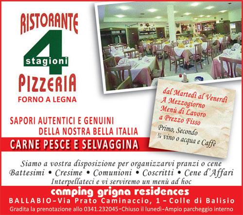 Ristorante pizzeria 4 stagioni