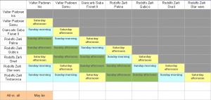 Sumo Robot Schedule